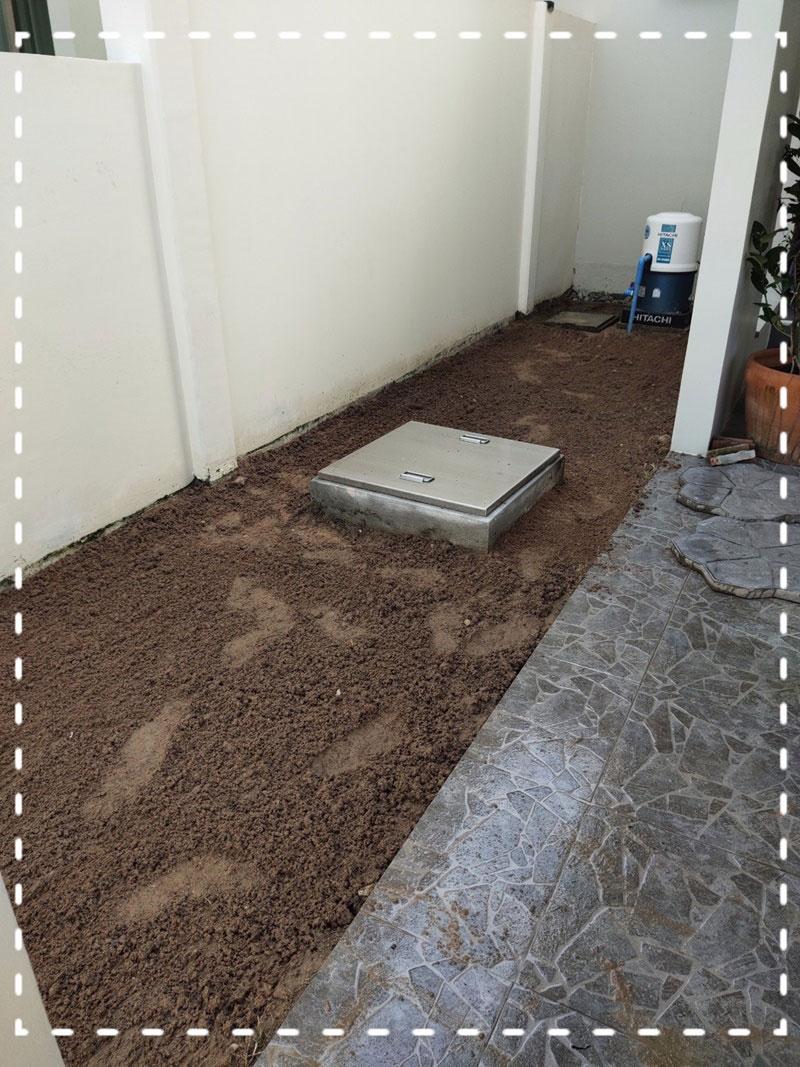 จัดสวนหินข้างบ้าน